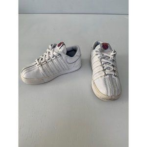 K-Swiss Classic Low White Leather Sneakers Size 9